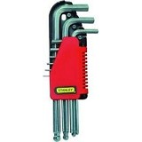 STANLEY Hex Key Set 9pcs Chrome [69-119-22] - Kunci L / Hex
